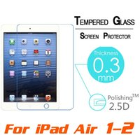 Wholesale tablet proof for sale - Group buy Bigbang H D MM Explosion Proof Toughened Tempered Glass For Apple iPad Air quot Tablet PC Film Clear Screen Protect
