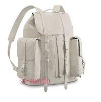 ingrosso zaini jean-Nuovo zaino di design top m53286 zaino singolo in pelle bianca trasparente zaino singolo Jean borsa zaino sportivo borsa da spiaggia arrampicata su roccia