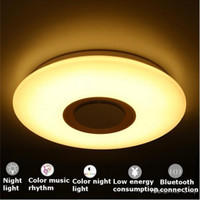 Wholesale wedge lamps for sale - Group buy Music LED ceiling Light with Bluetooth control Color Changing Lighting flush mount Smart LED lamp for bedroom ceiling light fixtures LLFA