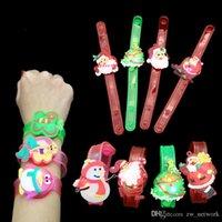 pulseira pulseira relógio led venda por atacado-Natal dos desenhos animados relógio de flash crianças pulseira led crianças flash relógio de pulso pulseira crianças luminosa brinquedo relógios bonito dos desenhos animados presente pequeno