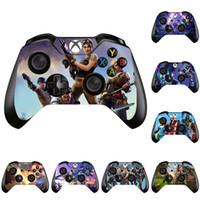 отличительные знаки контроллера xbox оптовых-Стикер игры Battle Royale Защитные наклейки для Xbox One Controller Наклейки для обложек для обложки геймпада