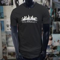 Wholesale outlets los angeles resale online - Los Angeles Skyline Factory Outlet Extended Long T Shirt T Shirt For Men Online Designer Custom Short Sleeve Boyfriend s Plus Size Team T Sh