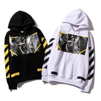 Wholesale white angel clothes for sale - Group buy Designer off hoodie religion virgin angel stripes top quality letter pullover street fashion clothing luxury hoodie brand sweatshirt oo