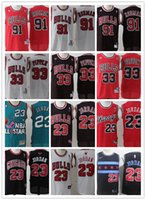 23 toros al por mayor-2019 Chicago Men / WOMEN / youth Scottie Bulls 33 Pippen 23 Michael Jr 91 Rodman camiseta de baloncesto Dennis tamaño de barco gratis s-xxl