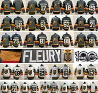 88 jersey de hockey para jóvenes al por mayor-Hombres Mujeres Jóvenes Vegas Golden Knights 29 Marc-Andre Fleury 75 Ryan Reaves 71 William Karlsson 88 Nate Schmidt 67 Max Pacioretty Hockey Jersey