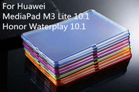 huawei mediapad ince durum toptan satış-1.5mm Darbeye Yumuşak Esnek TPU Silikon Kılıflar Huawei MediaPad M3 Lite 10.1 Onur Waterplay 10.1 Temizle Şeffaf İnce Kapak