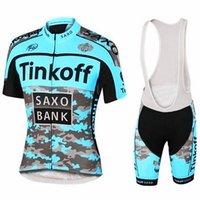 ingrosso mtb saxo jersey banca-NUOVO 2019 Saxo Bank Tinkoff cicla Jersey Imposta MTB della bicicletta traspirante che coprono i bicchierini in bicicletta Suit 9D GEL