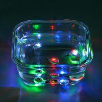 luz estroboscópica de pesca al por mayor-Señuelos de pesca 5PCS LED Light Deep Drop Submarino forma redonda de calamar Strobe luz intermitente cebo señuelo De Carpa Pesca Pesca