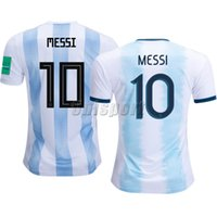 messi fincan toptan satış-2018-2019 Arjantin Futbol Formaları Copa Amerika Messi Dybala Aguero Futbol Camisa Altın Kupa Futbol Camisetas Gömlek Kiti Maillot Maglia