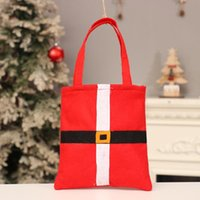 Wholesale designer kid handbag for sale - Group buy Christmas Bag Christmas Party Decorations Santa Claus Bags cm Non woven Xmas Candy Gift Handbags for Kids Children DHB638