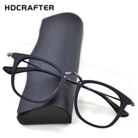 тонкие очки оптовых-HDCRAFTER 14.5g Lightweight Glasses Frame Men Women Vintage Myopia Prescription Eyeglasses Frames Metal Thin Temple Optical