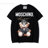 ingrosso swing donne-19ss Summer New Moschin O Tee in cotone a maniche corte traspirante Uomo Donna Moschinos Swing Bear casual all'aperto Streetwear T-shirt 836