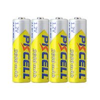 batería pkcell al por mayor-100% Original PKCELL 14500 Batería Capacidad real 2600MAH 1.2V NiMH recargable NO5 14490 Baterías para control remoto Juguetes electrónicos Herramientas