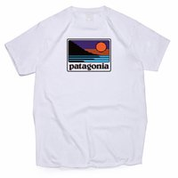 camisas de moda juvenil para hombre al por mayor-Patagonia Summer Wear Designer original de alta calidad camisa de moda casual camiseta de algodón con manga Camiseta para hombre juvenil