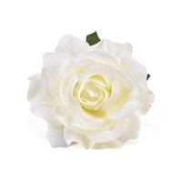 gefälschte blume stieg köpfe groihandel-30PCS 9cm Artificial Burgundy Rose Silk Blumen-Köpfe für Hochzeitsdekoration DIY-Kranz-Geschenk-Kasten Scrapbooking Fertigkeit Fake Flowers Y200104