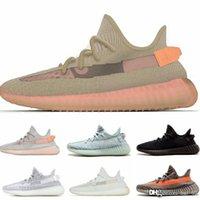calçados casuais cinza dos homens venda por atacado-Com Caixa V2 TRFRM True Form Argila Hyperspace cinza preto mens designer sapatos Mulheres Kanye West esportes Tênis Esporte sapatos casuais