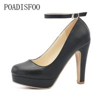 Wholesale fat b online - POADISFOO Classic Women s Super High heels Pumps platform Sexy pumps summer sandals Fat Women s Pumps XXXY