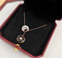 collier de bateau d'amour achat en gros de-Designer Collier AMOUR Bague Bijoux Plaqué Or 18K Collier Collier De Luxe Femme amour cadeau Livraison gratuite