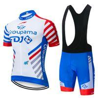 vêtements de cyclisme d'équipe achat en gros de-2019 Maillots de cyclisme Pro Team FDJ costume vêtements de cyclisme VTT Cyclisme à séchage rapide Respirant Vélo Vêtements de sport Maillot Ropa Ciclismo Set