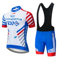 mtb trikots großhandel-2019 Pro Team FDJ Radtrikots Anzug MTB Fahrradbekleidung Quick Dry Cycling Atmungsaktive Fahrradsportbekleidung Maillot Ropa Ciclismo Set