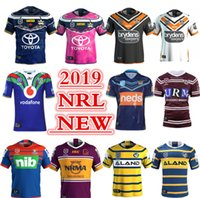 caballeros azules al por mayor-BRISBANE BRONCOS DEL NORTE QUEENSLAND COWBOYS PARRAMATTA EELS NEWCASTLE KNIGHTS WESTS TIGERS COSTA DE ORO TITANES 2019 NSW BLUES JERSEY tamaño S-3XL