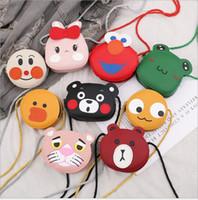en iyi bebek çantaları toptan satış-İyi Satış Kore Stil Çocuk Çanta Yeni Bebek Kız Moda PU Messenger Çanta Çocuk Güzel Karikatür Tek omuz Çanta