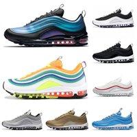 zapatos de hombre 46 al por mayor-2019 97 New Trainer Men Running Shoes Blue Nebula Grape Metallic Gold Midnight Navy Mustard Women Designer Sports Sneakers Talla 36-46
