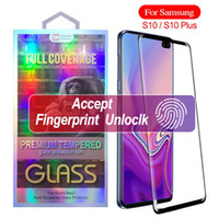 Wholesale galaxy s10 case with screen protector online – 3D Curved Tempered Glass Case Friendly Scaled Down for Samsung Galaxy S9 Plus S10 s10 Plus Screen Protector With Retail Box