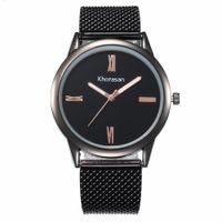 relógios de moda de plástico venda por atacado-2019 novas senhoras moda simples escala de simulação de malha de plástico cinto de relógio de quartzo relógio modelos femininos