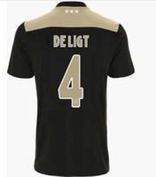 ch jerseys al por mayor-CH parche versión Ajax casa rojo blanco camisetas de fútbol 18/19 de distancia camiseta de fútbol 2019 # 10 TADIC # 21 DE JONG # 4 DE LIGT DOLBERG uniforme de fútbol