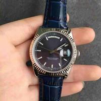 en iyi otomatik mekanik saatler toptan satış-2019 en çok satan erkek hediye 41mm Roma otomatik mekanik erkek izle deri kayış