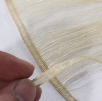 Wholesale skin weft european for sale - Group buy VMAE Full Cuticle one donor European Burgundy Blonde brown double drawn g Russian Remy Virgin flat Silk Skin Weft Human Hair Extensions