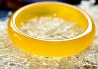 pulseiras de jade amarelo venda por atacado-Direto da fábrica de gelo natural A carga pulseira de ágata amarela Moda feminina jade pulseira de jade atacado