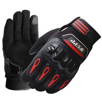 Wholesale waterproof gloves for motorcycle resale online - New Leather Hand Gloves for Motorcycle Riding Touch Screen Waterproof Motocross Gloves Full Finger Warm L XL XXL