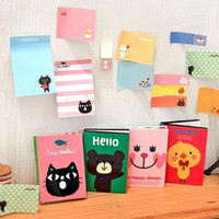 Wholesale cute sticky notepad resale online - New cute cartoon animals Notepad Memo pad Paper sticky note message post Notes Notepads