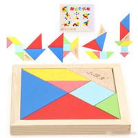 puzzles do brinquedo da educação venda por atacado-Educação infantil precoce Aprendizagem brinquedos quebra-cabeça do cérebro Cérebro criativo quebra-cabeça placa de reconhecimento de geometria inteligência Inteligente blocos de construção quebra-cabeças
