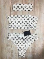 bikini mini hot toptan satış-Sıcak 11 moda 2019 seksi wrap göğüs monogram baskı serisi plaj bikini, çeşitli stilleri ve renkleri boyut standardı seçebilirsiniz