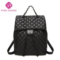 Wholesale travel backpacks for sale - Pink sugao new fashion backpacks designer school bags luxury travel bag for women pu leather small backpack hot sales bag new styles