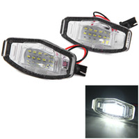Wholesale civic lights resale online - 12V SMD White Light LEDs License Plate Lamp for Honda Accord D Civic Odyssey City D