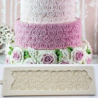 Wholesale molds for crafts resale online - 37 cm Sugar Rose Mould DIY Wedding Birthday Cake Mold Fondant Molds Silicone Molds for D Crafts Cake Decorating Tools