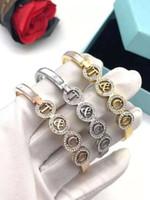jóias dias titânio venda por atacado-2019 Top Quality Titanium Steel T Rose Gold Silver Diamond Luxury Designer Jóias Mulheres Pulseiras Bangle presente do dia dos namorados