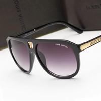 Wholesale sunglasses brands names resale online - 9018The name Designer brand new fashion high end classic sunglasses attitude sunglasses gold frame square metal frame vintage style