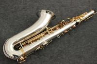 саксофон-саксофон оптовых-Новый Tenor Saxophone yanagisawa T-9930 Музыкальные инструменты Тон Bb, никелированная посеребренная трубка Золотой саксофон с мундштуком