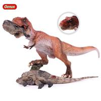 детские игрушки оптовых-Ction Игрушечные Фигурки Oenux Jurassic Classic Плотоядный Король T-Rex Tyrannosaurus Rex Динозавр Модель Трупа Фигурку Brinquedo Edu ...