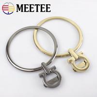 Wholesale metal handles for handbags resale online - Meetee cm Round Ring Metal Handle For Handbag Purse Replacement Buckle Handmade Luggage Hardware Accessories