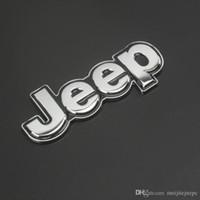 jeep-logo-aufkleber großhandel-Auto Persönlichkeit Körperdekoration Aufkleber JEEP Jeep 4X4 Metall modifizierte Auto Standard Begrenzter Logoaufkleber Zink-Legierung