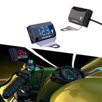 painéis de exibição led venda por atacado-12-150V LED voltímetro carro Volt calibre Panel Display Medidor Com Suporte Digital Voltmeter Motorcycle Tensão Medidor Com Bracket