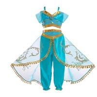Wholesale skirt pants for kids for sale - Group buy Halloween Costume Kids Girls Belly Dancer Dress Princess Dress for Girl Halloween Cosplay Costume Top Skirts Pants