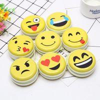 Wholesale purse case sets for sale – best Emoji coin purse Cute Portable Coin Purse Keyring Pouch Wallet Earphone Headphone Earbud Carrying Boxes Purse Case LX7790