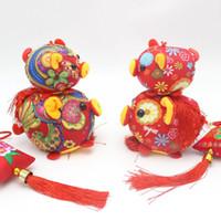 muñeca blanda de china al por mayor-Hogar Suave Mascota de Juguete Nudo Chino Flor Animal Cerdo Colgante de Felpa Para Niños Niños Muñeca Directo de Fábrica 9ym4 BB